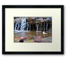 Chase all the waterfalls Framed Print