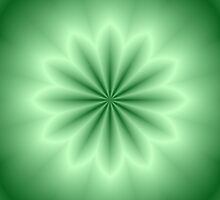 Green Abstract Star by Lena127
