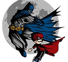 Batman and Calvin Hobbes by SeniorStyle
