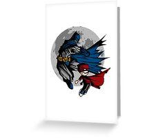 Batman and Calvin Hobbes Greeting Card