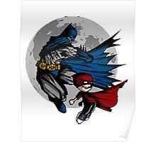 Batman and Calvin Hobbes Poster