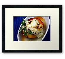 White Peaches Cheese Dessert Framed Print