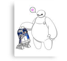 Baymax and R2D2 Star Wars Canvas Print