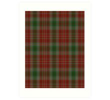 00106 British Columbia District Tartan  Art Print