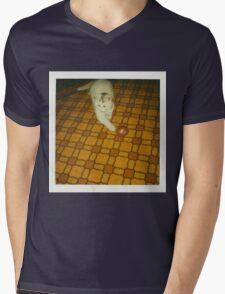 Vintage Potato Cat Mens V-Neck T-Shirt