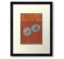 No Country For Old Men Minimalist Poster Framed Print