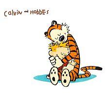 Calvin and Hobbes Warm Hug by mikelpegel