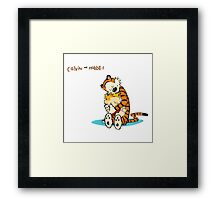 Calvin and Hobbes Warm Hug Framed Print