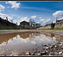 Puddle barn sky! by Shaun Whiteman