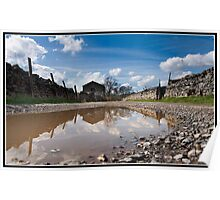 Puddle barn sky! Poster