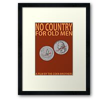 No Country For Old Men Minimalist Design Framed Print