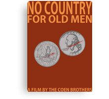 No Country For Old Men Minimalist Design Canvas Print