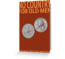 No Country For Old Men Minimalist Design Greeting Card