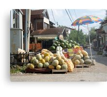 Fruit and vegetables stand Metal Print