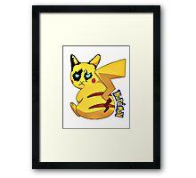 Nopemon - Pokemon Pikachu Framed Print