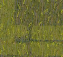 Wild grasses by Fern Smith for clothing Sticker
