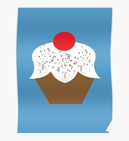Chocolate Sprinkles Cupcake Poster