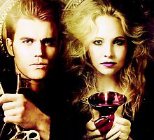 the vampire diaries - caroline forbes and stefan salvatore by Dylanoposey