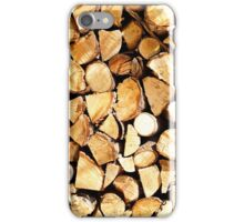 stack of wood  iPhone Case/Skin