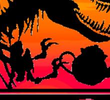 Tea Rex - Sunset Beach Sticker