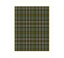 00110 Cape Breton (yellow stripes) District Tartan  Art Print