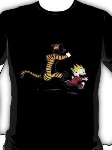 Calvin and Hobbes Running Man T-Shirt