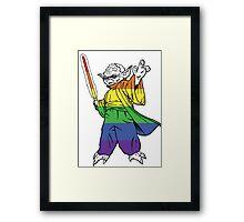 Rainbow Yoda Framed Print