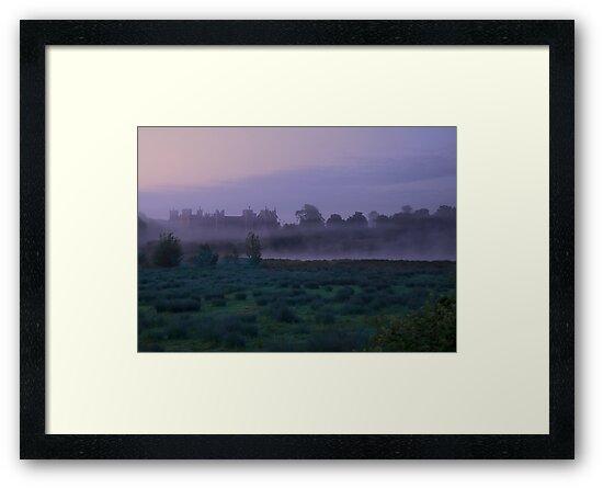 Early Morning Mist At Framlingham Castle by lynxpilot