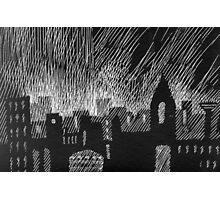 black city Photographic Print