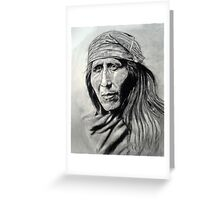 Apache Indian  Greeting Card