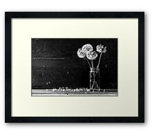 Une Table Modeste Framed Print