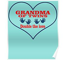 GRANDMA OF TWINS DOUBLE THE LOVE Poster