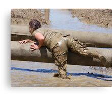 Going Over the Logs - Survival Training Canvas Print