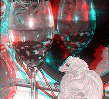anaglyph 3d glass reflections  by mandyemblow