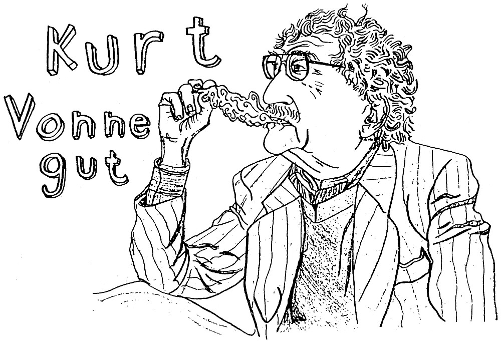 Kurt Vonnegut by HenryJabelman