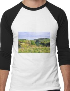 Looking Down into Lathkill Dale  Men's Baseball ¾ T-Shirt