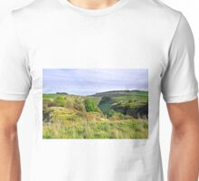 Looking Down into Lathkill Dale  Unisex T-Shirt
