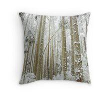 new snow, Pacific Spirit, Vancouver Throw Pillow