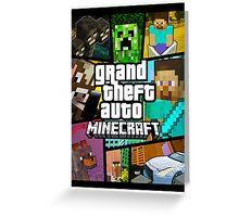 GTA Minecraft Greeting Card