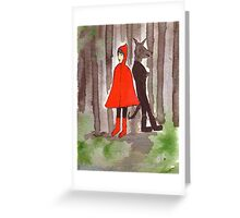 Red And The Wolf Greeting Card