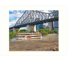 Cruising Brisbane Art Print