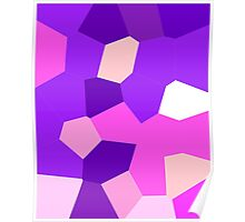 neonflash abstract art fabrics Pinky Poster