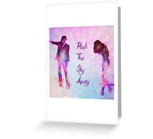 Pushing The Sky Greeting Card