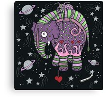 Interstellar Elephant Tee Canvas Print