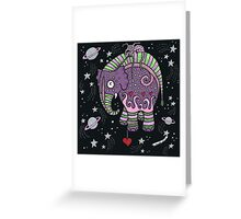 Interstellar Elephant Tee Greeting Card