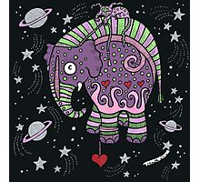 Interstellar Elephant Tee Photographic Print