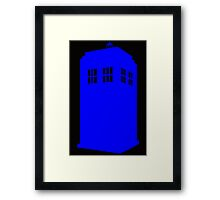 Blue English Police Box Framed Print