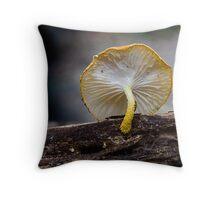 Golden Tufts Throw Pillow