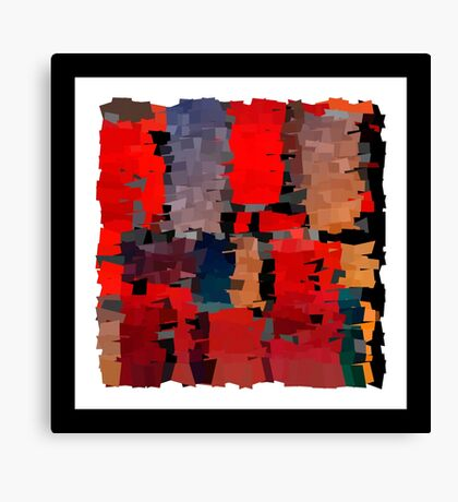 Modern red Christmas illustration abstract art bright blots and splashes Canvas Print
