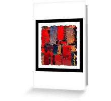 Modern abstract art bright blots and splashes Greeting Card